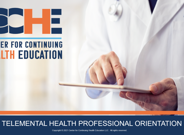 TeleMental Health Professional Orientation 1.5 CME course image