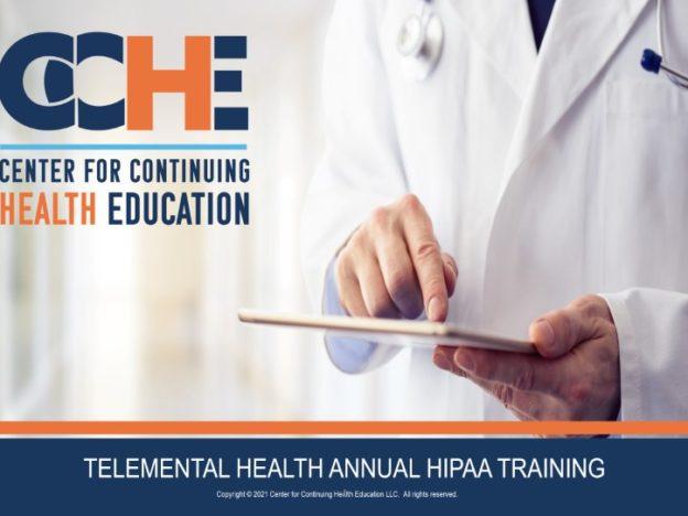 TeleMental Health Annual HIPAA Training 1.75 CME course image