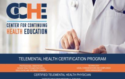 Telemental Health Practitioner Certification Program 11.0 CME