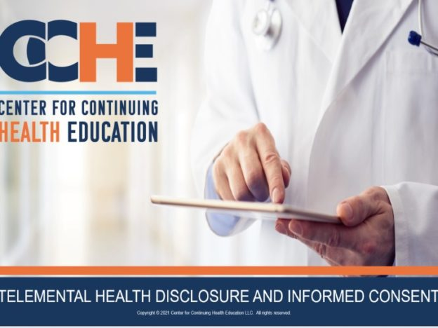Telemental Health Disclosure and Informed Consent 2.0 CME course image