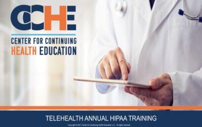 Telehealth Annual HIPAA Training 1.75 CME
